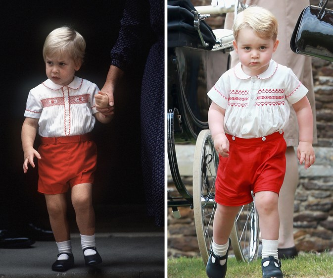 Prince George reminded us of dad William and uncle Harry