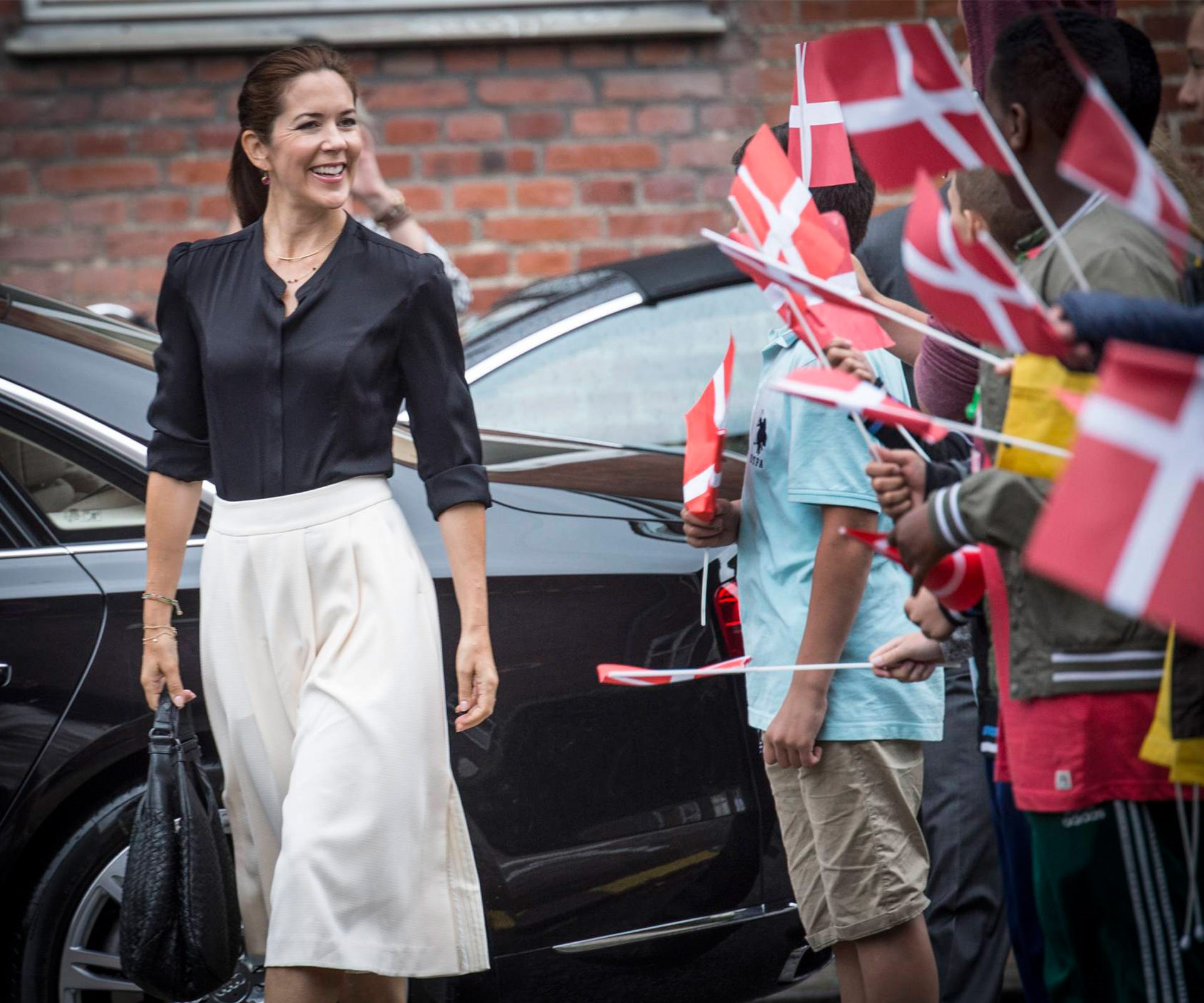 Princess Mary passionately advocates for anti-domestic abuse at Loving Measure event:Crown Princess Mary of Denmark was greeted by excited year eight students as she arrived at Guldberg academy in Copenhagen to participate in the *Loving Measure* event.