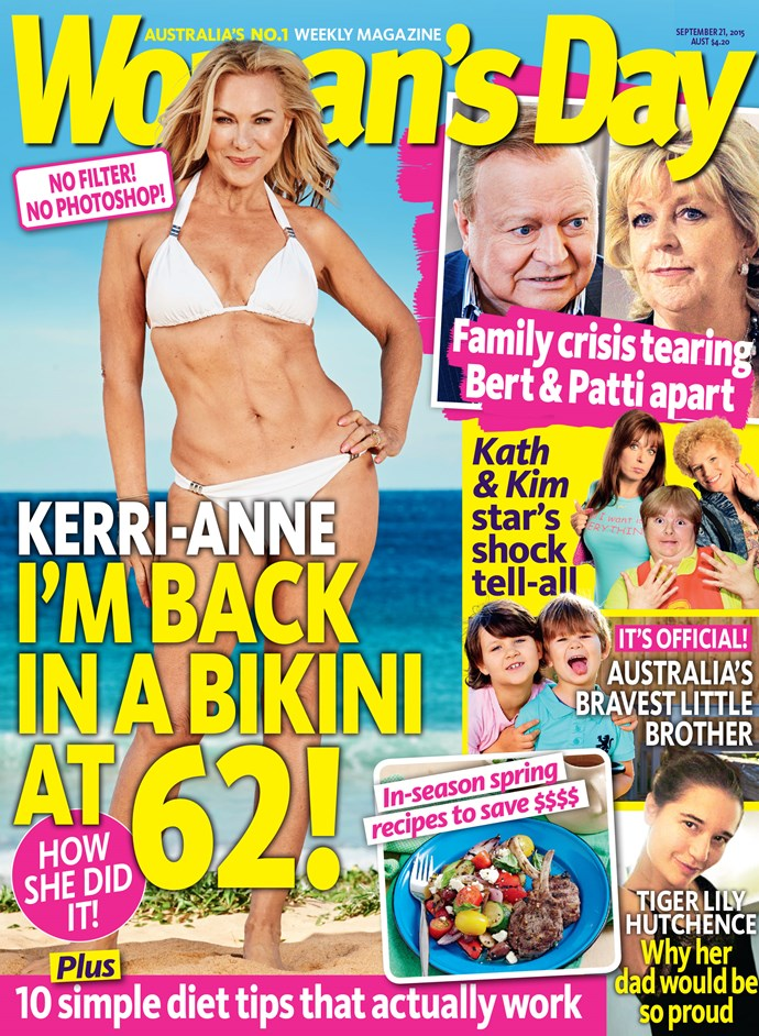 Make sure you pick up this week's issue of *Woman's Day* to check Kerri-Anne's marvelous beach-side photo-shoot!