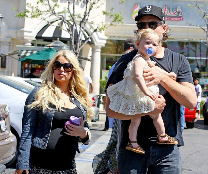 Back-to-back babies! Jessica Simpson conceived again five months after the arrival of her first child.