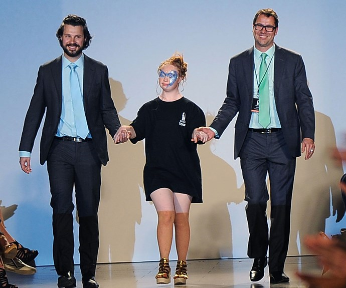 Madeline walked with designers Hendrik Vermeulen and Jean-Daniel Meyer-Vermeulen at the end of the show.