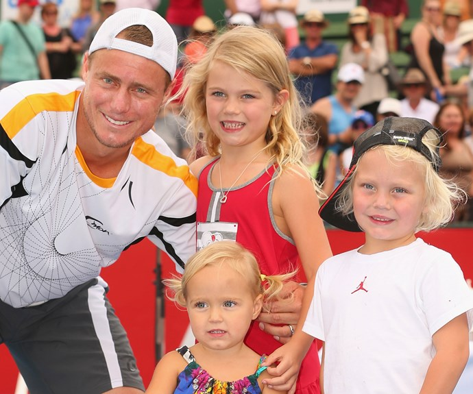 Lleyton's greatest life achievement is off the court. His three adorable kids, Mia, 9, Cruz, 6, and Ava, 4, are a chip off the old block.