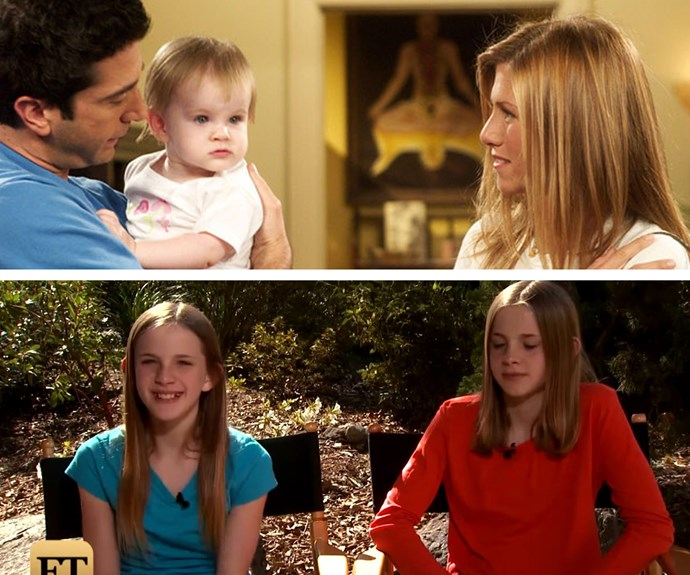 "Remember Rachel and Ross' baby girl, Emma Gellar-Green? She was played by twins Noelle and Cali Sheldon, who are now 12-years-old! ""I grew up knowing that I was on Friends, but I didn't realize the extent of it until I was probably 10,"" Noelle admitted to *Entertainment Tonight* about her time on the show."