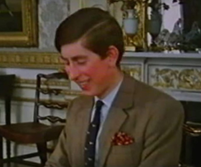 A then-21-year-old Prince Charles found his mother's anecdotes most hilarious.