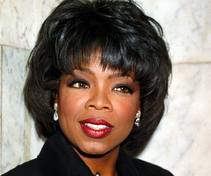 Oprah ushered in the '90s with this fringed bob.