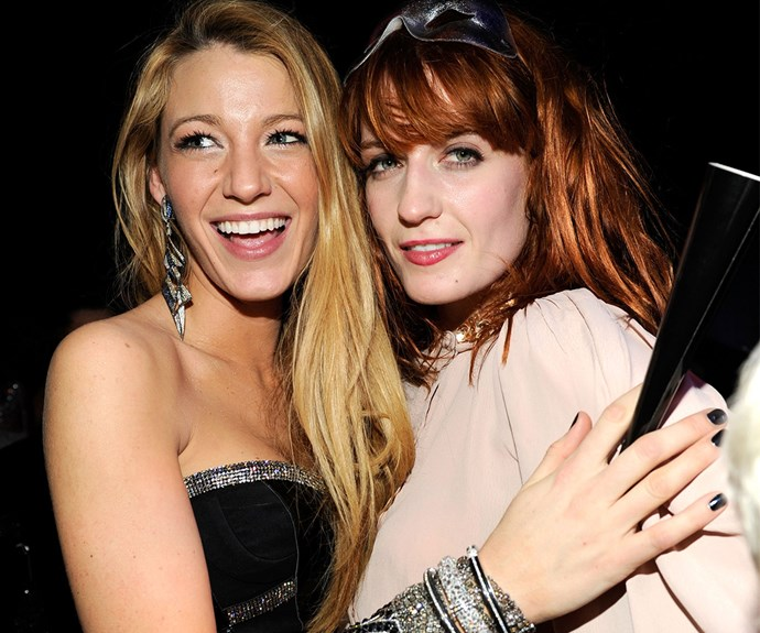 Blake Lively and Florench Welch from band Florence and the Machine are such close friends Florence sung at Blake's wedding!