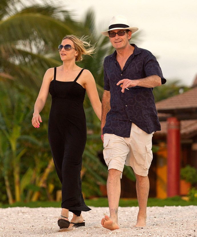 Brooke and Charlie on their make-or-break holiday in Mexico in 2011.
