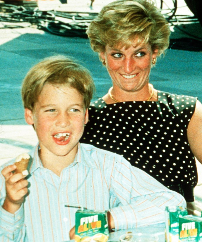 Diana would take William with her on royal charity visits.