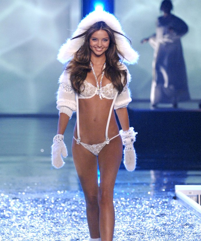 Miranda's first Victoria's Secret outfit.