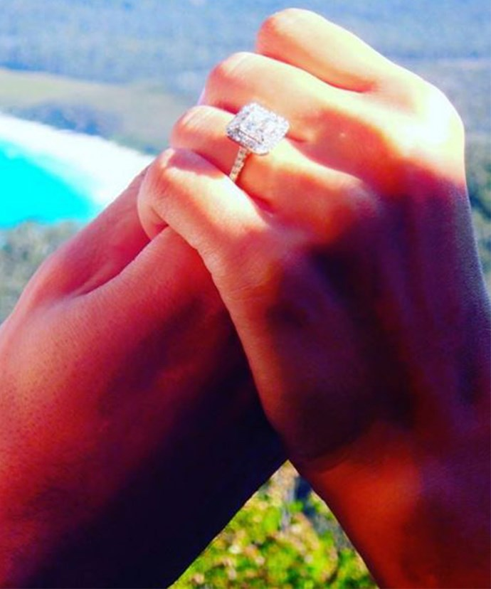 Snezana and Sam share video of the moment they got engaged