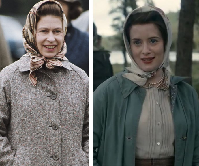 British actress Claire Foy (R) makes for a very fitting Queen Elizabeth.