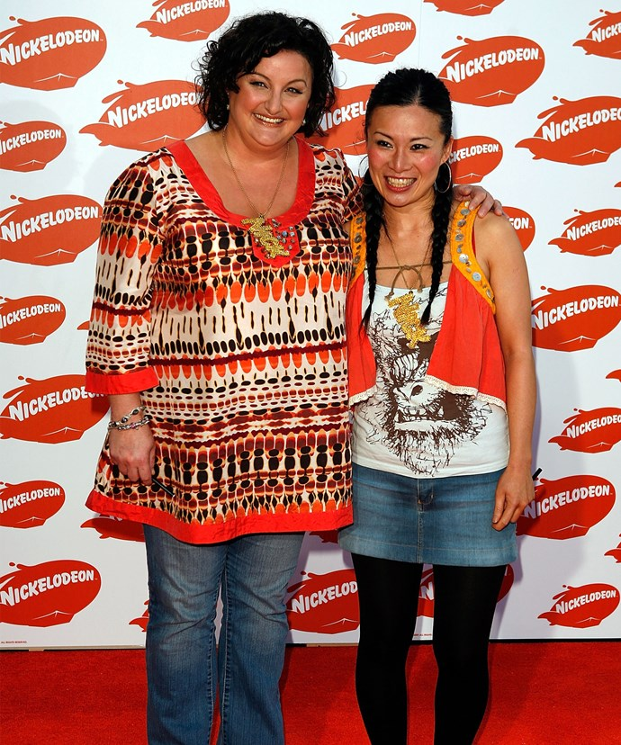 Julie, pictured at the 2009 Australian Nickelodeon Kids' Choice Awards with *MasterChef* co-star Poh Ling Yeow, admits she was heavier before but was always healthy.