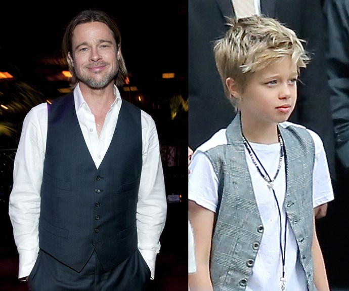 We can't get over how much Shiloh looks [like her dad Brad!](http://www.womansday.com.au/life/family/shiloh-jolie-pitt-looks-just-like-brad-13994)