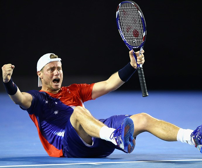 The sports star was blown away by his first-round win in what will be his last ever Australian Open.