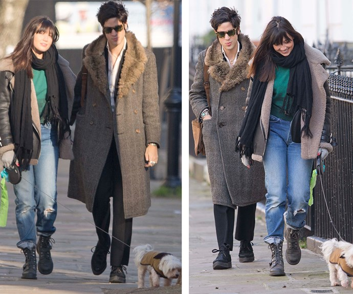 Daisy and Thomas later shared a kiss following their stroll around north London on Wednesday.