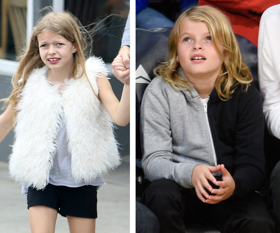 This week, Moses Martin was spotted out and a Los Angeles Lakers Game in LA (R) and the resemblance between him and his [sister Apple was uncanny.](http://www.womansday.com.au/celebrity/hollywood-stars/celeb-mini-mes-hollywoods-most-uncanny-look-alikes-12681)