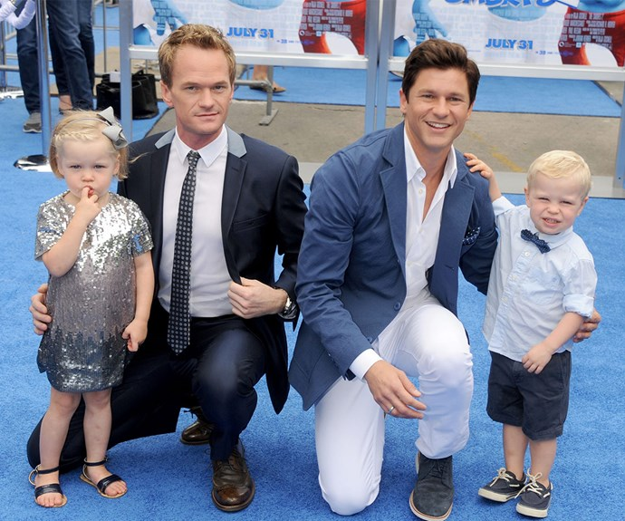 """Two eggs, two embryos, one of mine, one of his,"" Neil Patrick Harris explains of his gorgeous five-year-old twins Harper and Gideon, who he shares with husband David Burkta."