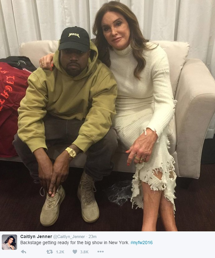 Caitlyn was also there to support Kanye.