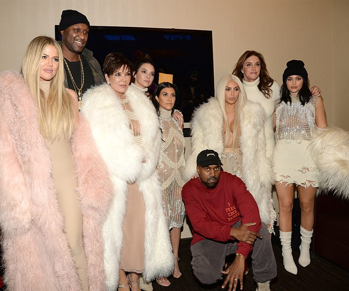 Backstage at the show, Lamar posed up with former wife Khloe and her family including Kris Jenner, Kendall Jenner, Khloe Kardashian, Kim Kardashian, Kylie Jenner, Caitlyn Jenner and Kanye West.