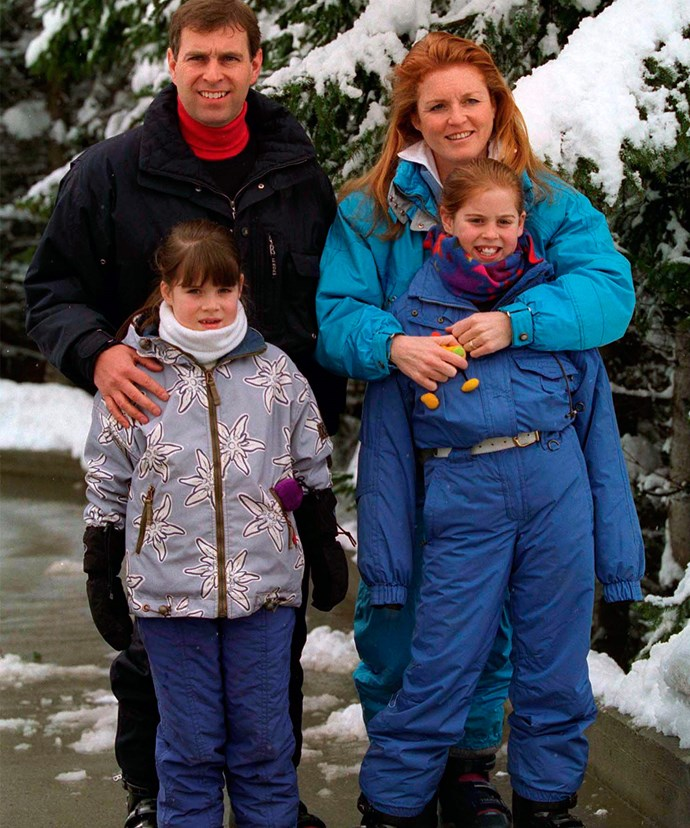 The Yorks on a family holiday in Verbier.