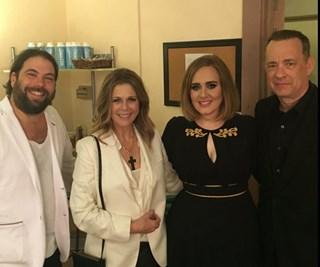 Adele, Rita Wilson, Tom Hanks