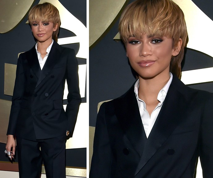 Zendaya, 19, totally owned her androgynous style suit.