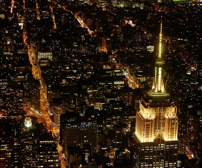 The award show might be in LA but on the other side of the country, the Empire State building in New York was lit up in gold for the Grammys.