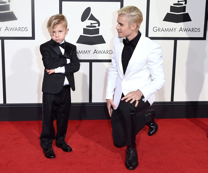 Swag runs in the family! Justin Bieber, who has been recently linked to model Hailey Baldwin, was joined by his adorable younger brother Jaxson.