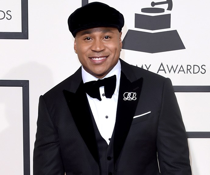 Long-running host LL Cool J mixed up his look with a cute cap.