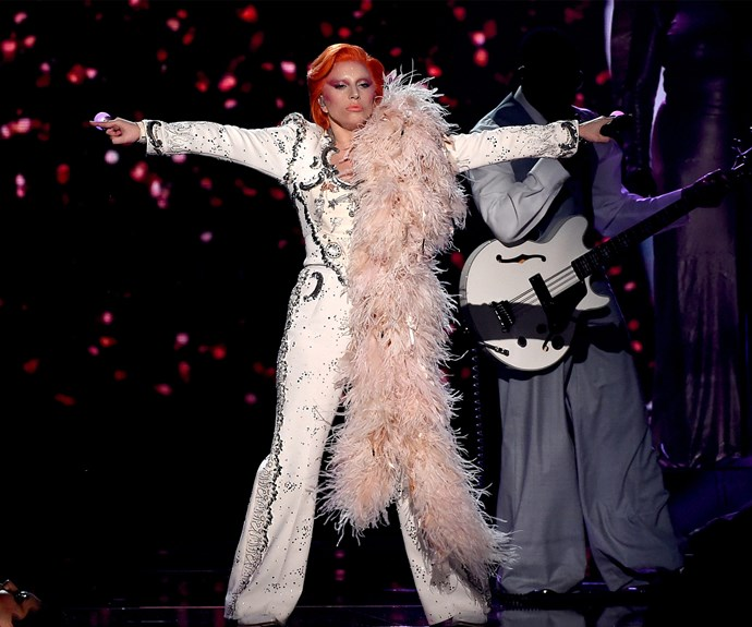 """Mother Monster described her medley of Bowie songs as """"experimental""""."""