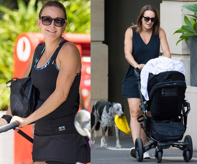 The 45-year-old is loving motherhood and often taken her son out for walks around her home in Sydney's eastern suburbs.