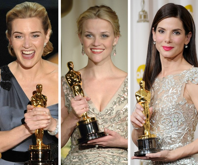 Leading ladies: Kate Winslet bagged the gong for her role in 2009 *The Reader*. In 2006 Reese Witherspoon crossed the winners line for *Walk the Line*. Sandra Bullock bagged the big gong for the 2010 blockbuster *The Blind Side*.