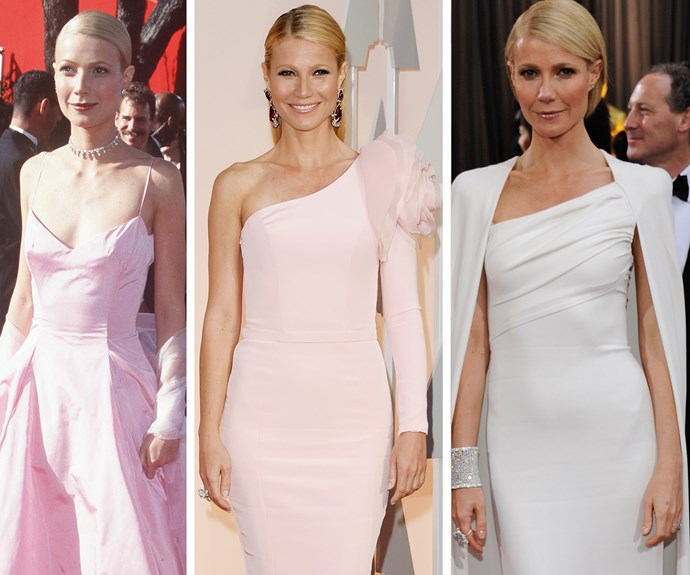 Pretty in pink and pastels: Gwyneth Paltrow may not have scored a win since 1999, but she has been slaying the red carpet for the past two decades.
