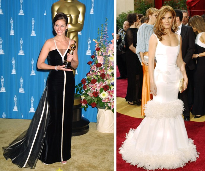 Julia Roberts and Sandra Bullock are red carpet icons.