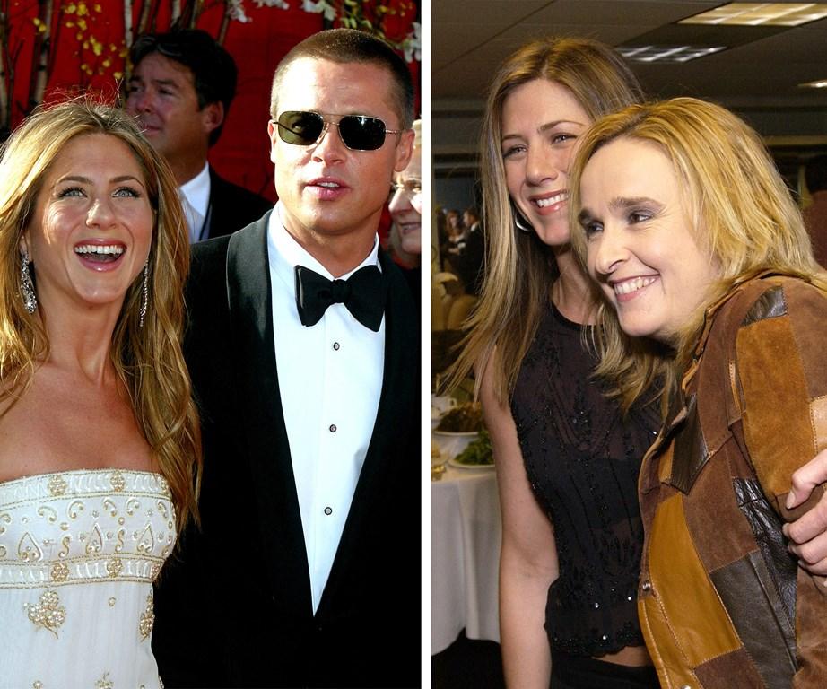 Melissa sangat dekat dengan Brad Pitt dan mantan istrinya, Jennifer Aniston.