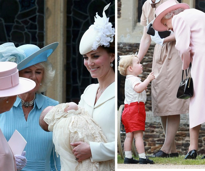 We can just imagine how cheeky George and little Charlotte were with their Gan-Gan!