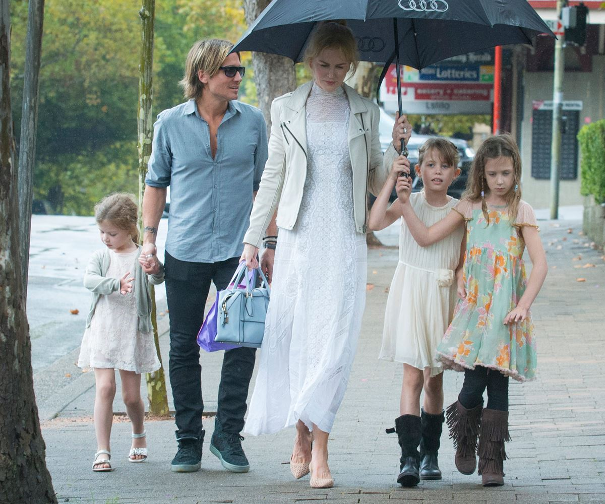 nicole kidman and keith urban head to church woman 39 s day