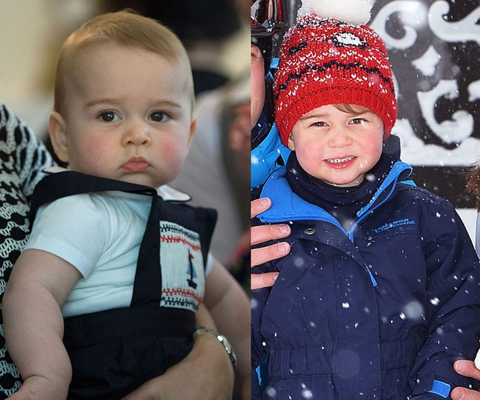 "Then and now! Growing up before our eyes, the third-in-line to the British throne [has now started nursery school at the Westacre Montessori School near the Cambridge family home in Sandringham, Anmer Hall.](http://www.womansday.com.au/royals/british-royal-family/prince-george-first-day-at-school-14411|target=""_blank"") **WATCH: George and Charlotte charm Canada. Gallery continues after the video!**"