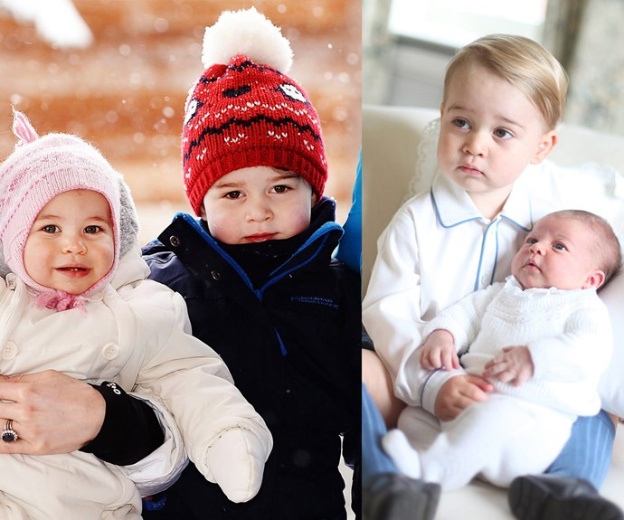 "Siblings Prince George of Cambridge, three, and his little sister, Princess Charlotte of Cambridge, 16 months, are the centre of William and Kate's universe. Proud dad Wills describes his darling daughter as ""lady like"", while Catherine recently joked George is quite ""naughty."""