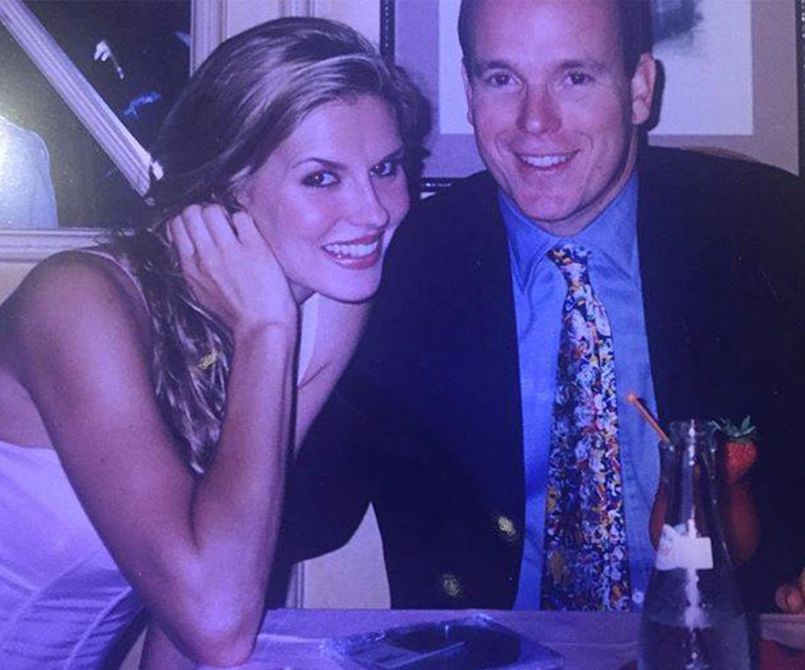 """*Real Housewives Of Beverly Hills* star Brandi Glanville posted this amazing shot with a young Prince Albert, revealing they went on a date! """"Remember that one time at Band camp I mean Cannes camp... When you had dinner with a prince,"""" the reality star penned."""