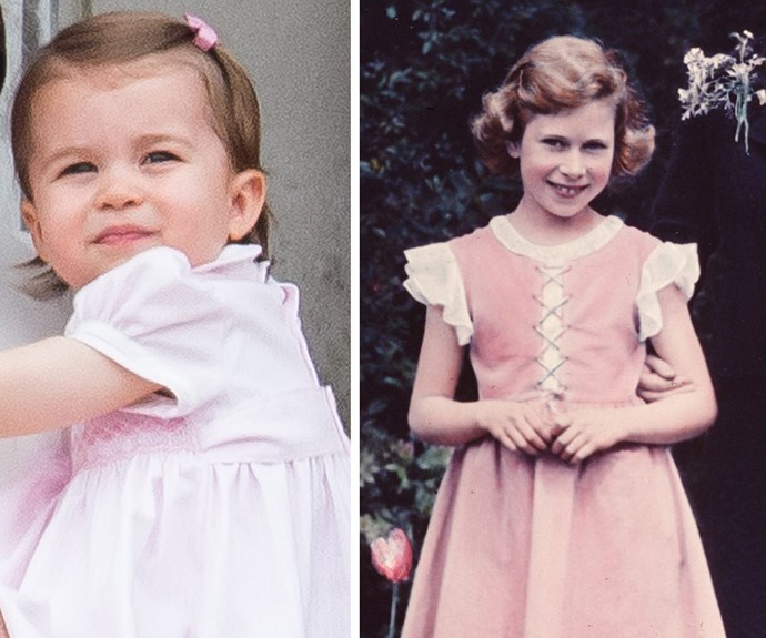 Mum Catherine certainly loves dressing and styling her little one to match Charlotte's Gan-Gan.