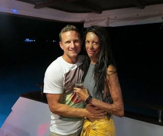 Turia Pitt and Michael Hoskin
