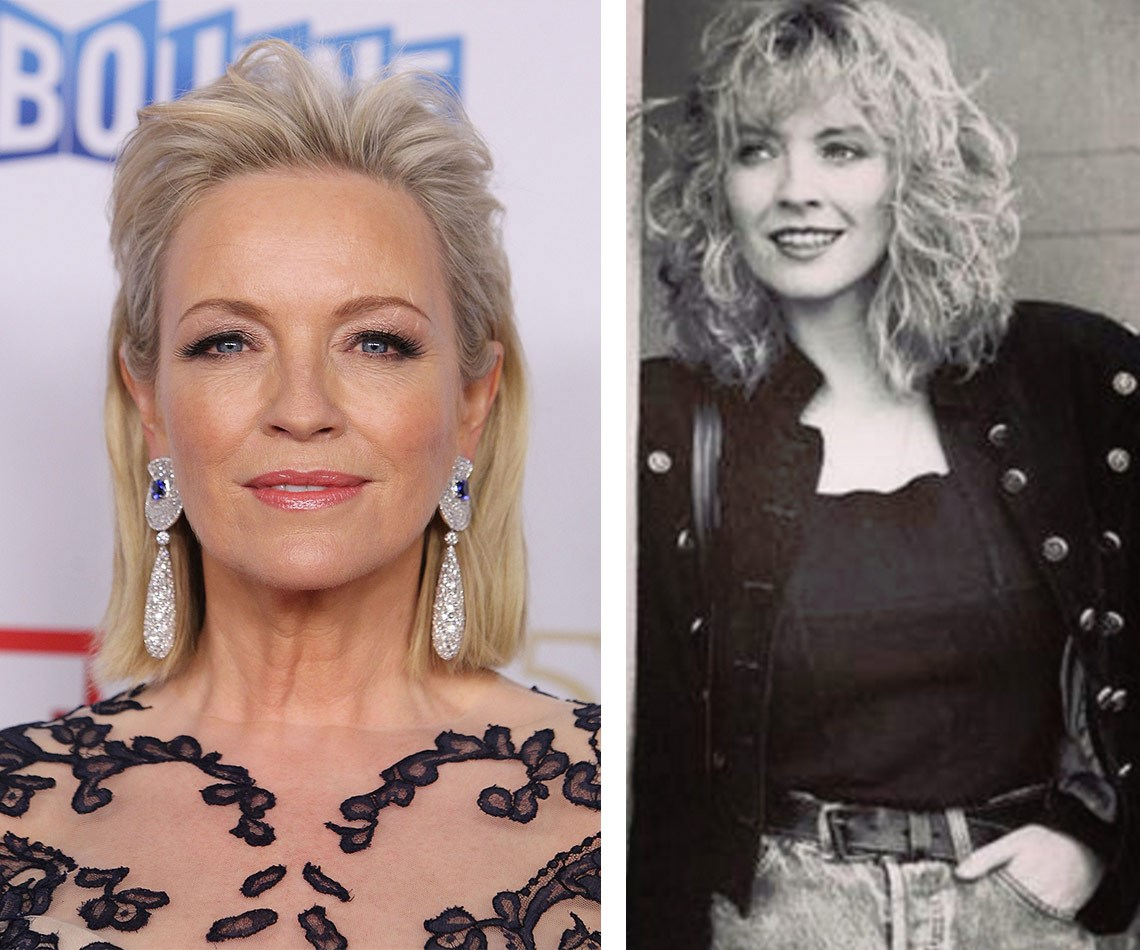 """Once a beauty, always a beauty! Rebecca Gibney proves that aging is optional with this '80s flashback that takes aim at her choice of hairdo. """"Let's not talk about the perm..."""" she wrote."""