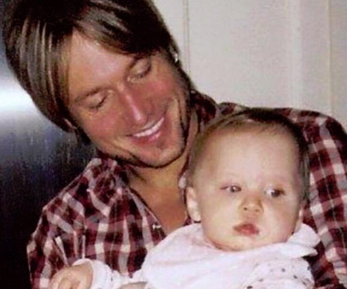"""Keith Urban has taken to Facebook with a sweet message for his darling daughter Sunday Rose on her eighth birthday. """"A little ray of sunshine in the shape of a girl. We love you!"""" he wrote."""