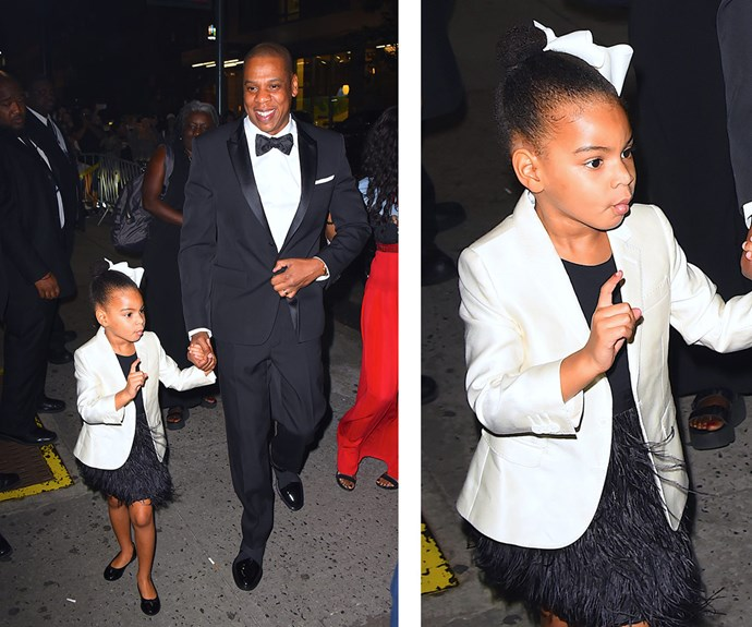 And it appears as if Beyonce and Jay Z's darling daughter is growing up to be the spitting image of her famous parents more and more every day!