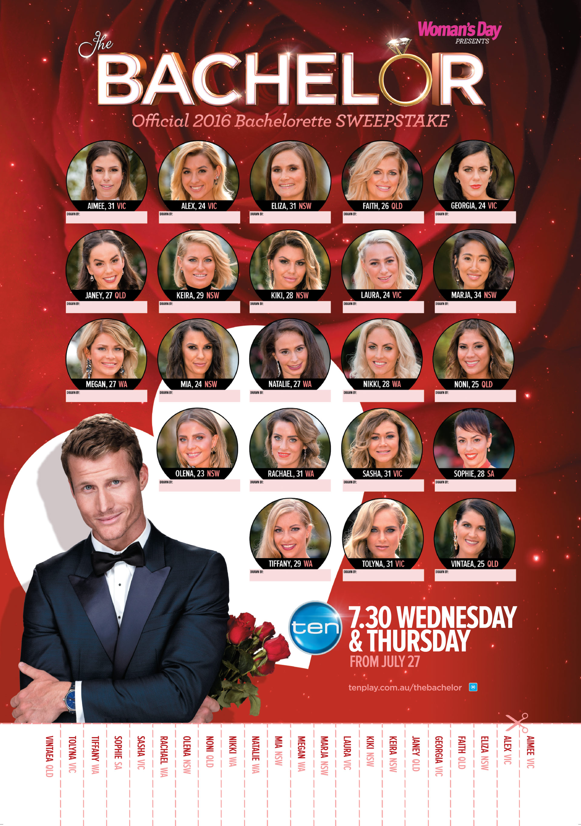 the 2016 bachelor sweepstakes