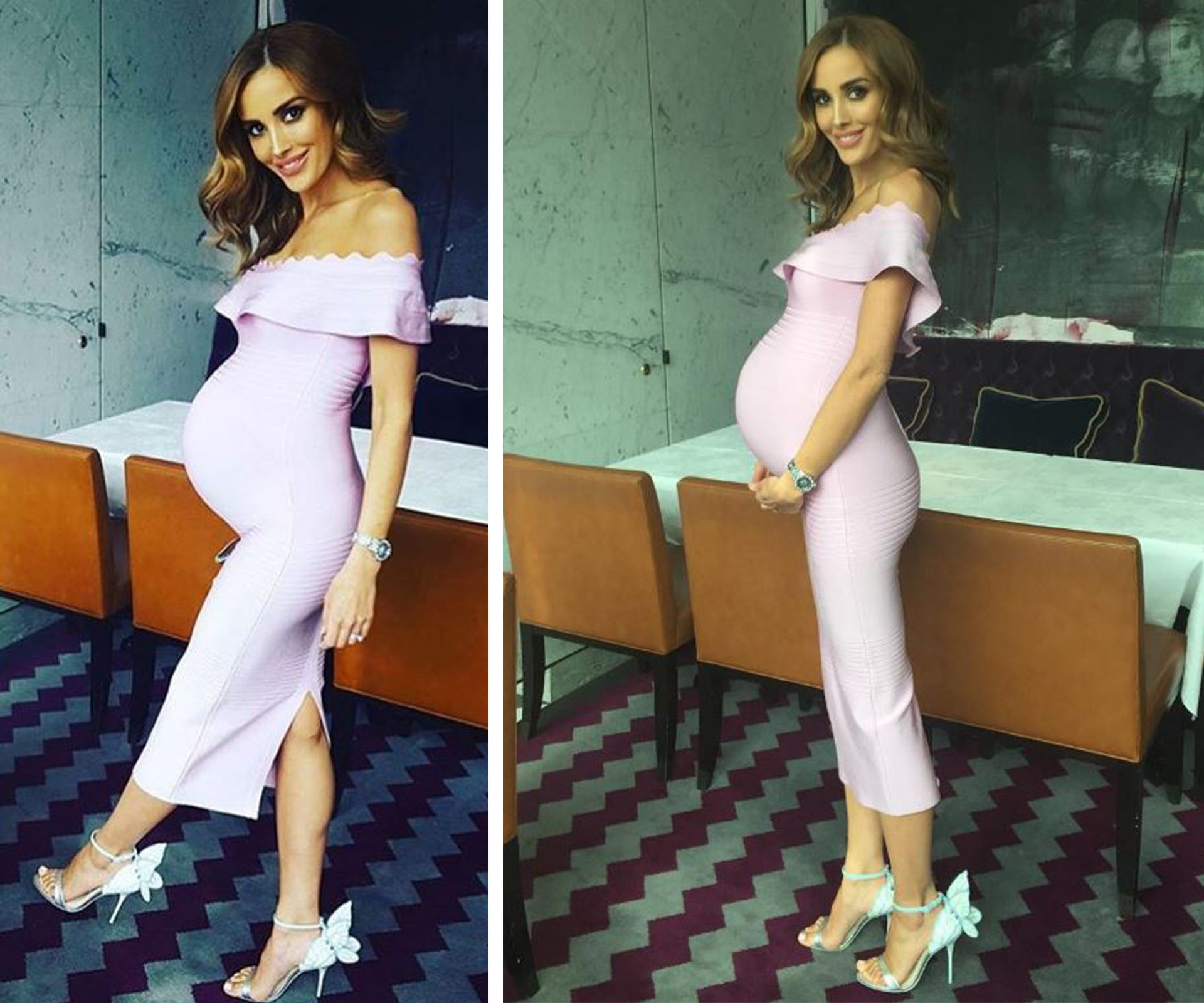 "Pregnant with twins, Bec Judd is looking absolutely radiant! ""Tummy size is escalating at an alarming rate,"" the presenter mused."
