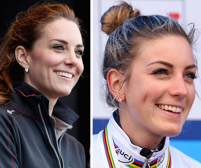 The Duchess of Cambridge will be surprised (and delighted) to discover that she an athletic twin competing at Rio! Kate's doppelganger is 24-year-old French cyclist Pauline Ferrand-Prevot.