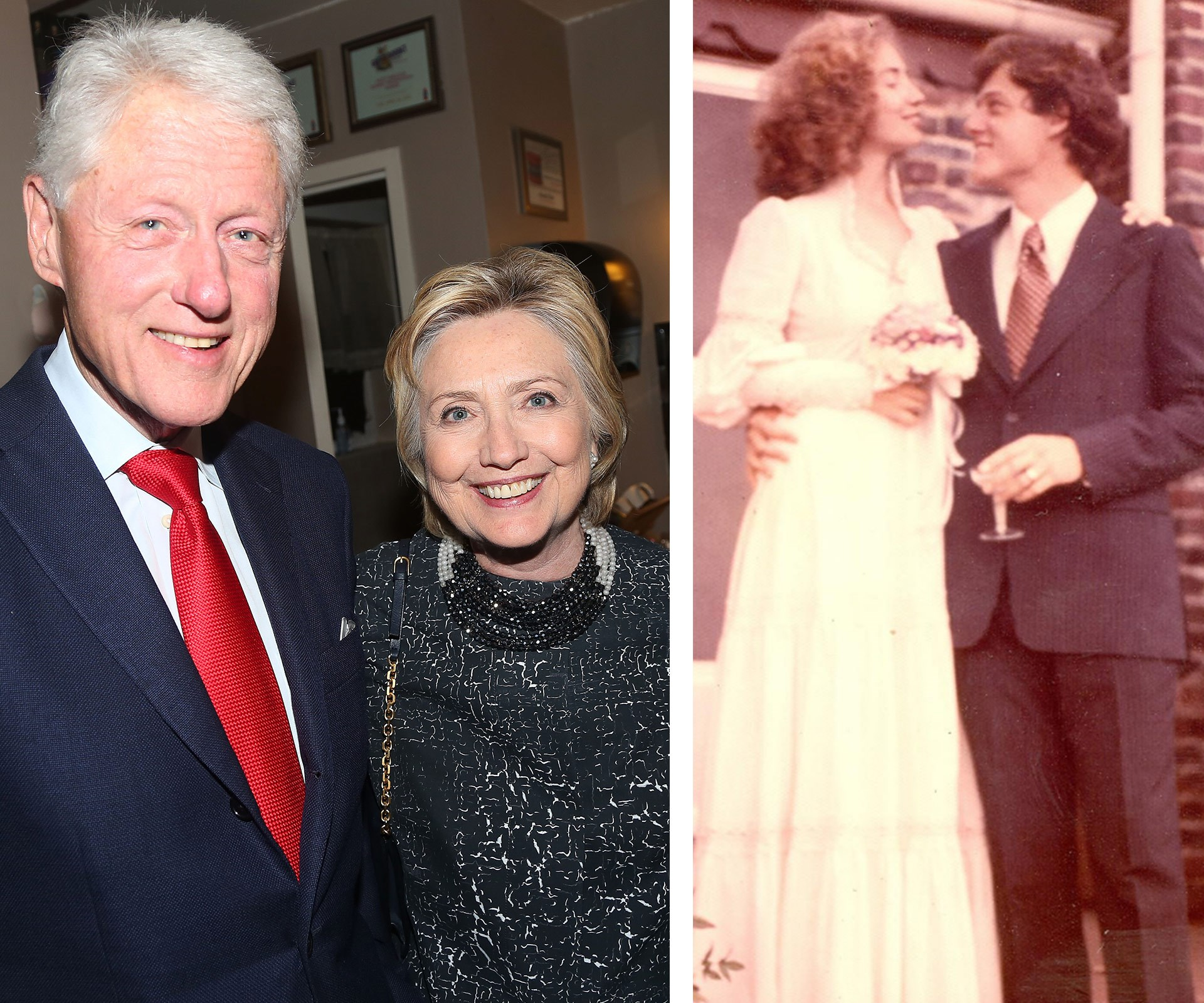 """Hillary Clinton has taken to Instagram with a sweet message for her husband Bill on his 70th birthday. """"Happy birthday, Bill!"""" she penned beside a vintage shot from their 1975 wedding."""