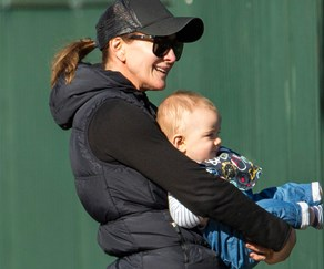 Michelle Bridges and Axel